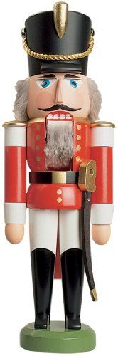 German nutcracker King red height 29 cm  11 inch original Erzgebirge by Seiffener Volkskunst SV 113011 *** This is an Amazon Affiliate link. You can get more details by clicking on the image.