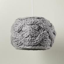 Knit Grey Cardigan Pendant Ceiling Light ++ via swiss miss