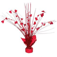 Valentines Day Red Heart Balloons Streamers Confetti Decoration Pack