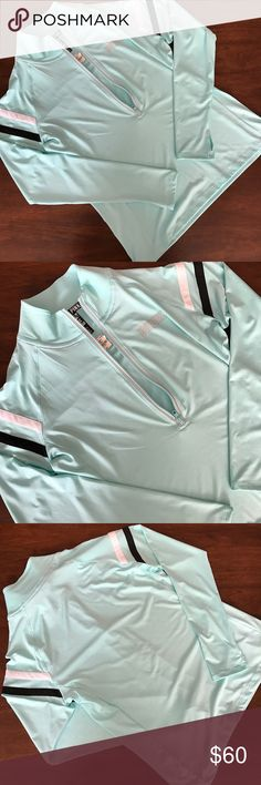 VS PINK ultimate deep half zip For sale is a mint ultimate deep half zip. The half zip features black and white stripes on the sleeves and a small PINK logo on the front. NWT! No holds, trades, modeling. PINK Victoria's Secret Tops Sweatshirts & Hoodies