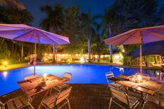 Bar at night. Swim Up Bar, Thatched Roof, Yummy Snacks, Perfect Place, South Africa, Swimming, Patio, Night, Outdoor Decor