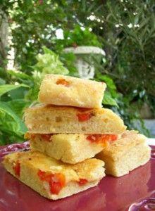Focaccia aux tomates, feta & marjolaine (sans pétrissage) -