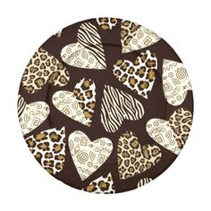 Animal skin with hearts pack of small button covers Seamless background with hearts with animal skin pattern. © and ® Bigstock® - All Rights Reserved. #abstract #africa #african #animal #background #beauty #black #brown #buffalo #bu...