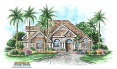 California House Plan: French Colonial Southern Style Home Floor Plan