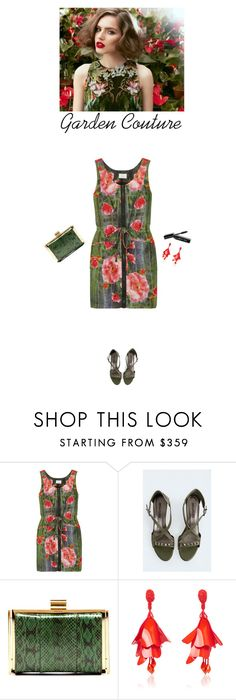 """garden couture"" by helena99 ❤ liked on Polyvore featuring Julie Haus, Zadig & Voltaire, Nina Ricci, Oscar de la Renta, Bobbi Brown Cosmetics, floral, sandals and clutches"