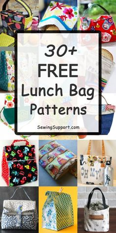 Over 30 Free Lunch Bag patterns tutorials and diy sewing projects. Sew fun fab - Lunch Bag - Ideas of Lunch Bag - Over 30 Free Lunch Bag patterns tutorials and diy sewing projects. Sew fun fabric lunch bags for kids and adults including insulated styles. Diy And Crafts Sewing, Diy Sewing Projects, Sewing Projects For Beginners, Sewing Hacks, Sewing Tutorials, Sewing Tips, Fabric Crafts, Sewing Ideas, Bag Pattern Free
