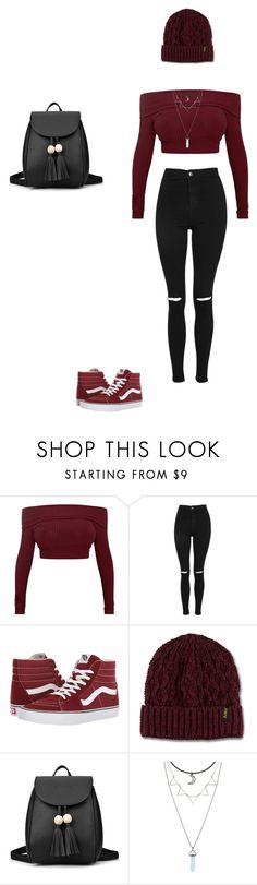 """""""Untitled #22"""" by jadethegeek on Polyvore featuring Topshop, Vans, Dr. Martens and Hot Topic"""