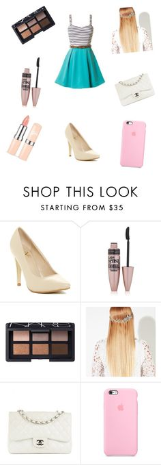 """""""Untitled #80"""" by fotiniiliadou ❤ liked on Polyvore featuring Versace 19•69, Maybelline, NARS Cosmetics, John Lewis and Chanel"""