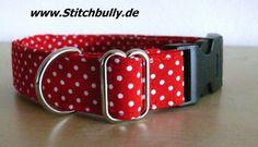 #103 Halsband Gassi Punkte Hund Sterne M/L Retro von stitchbully.de auf DaWanda.com