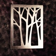 Hand cut birch tree brooch  Recycled sterling silver  Kiley Granberg commission work unique jewelry Canadian jewelry sustainable fashion Copper Jewelry, Jewelry Art, Jewelry Design, Unique Jewelry, Canadian Art, Unique Art, Sustainable Fashion, Birch, Jewelery