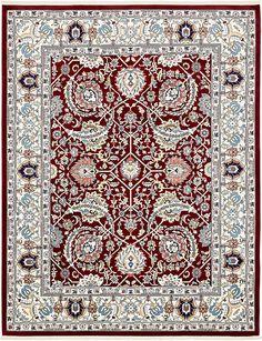 Burgundy 8' x 10' Tabriz Design Rug | Area Rugs | iRugs UK