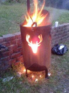 A burn barrel is commonly used to burn garbage while some have been turned into attractive fire pits. Here are a few unique designs for your own burn barrel