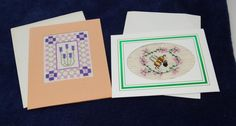 two blank greeting cards by LittleInsect on Etsy £1.99