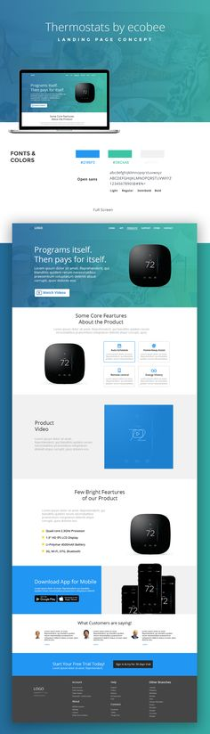 """Check out my @Behance project: """"Thermostats Landing Page UI Concept"""" https://www.behance.net/gallery/50270407/Thermostats-Landing-Page-UI-Concept"""