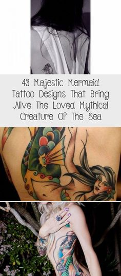 back tattoos female #Lowerbacktattoos Back Tattoos Spine, Back Piece Tattoo, Pieces Tattoo, Back Tattoo Women, Lower Back Tattoos, Tattoos For Women, Mermaid Thigh Tattoo, Small Mermaid Tattoo, Mermaid Sleeve Tattoos