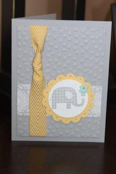 A baby card for a cousin.  Love the soft smoky slate, and yellow and gray is such a great combo!