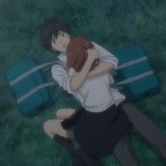 """""""If you get ten small things or even a hundred small things all together.it will be enough of a reason for you to keep going! Futaba Y Kou, Ao Haru Ride Kou, Manga Anime, Blue Springs Ride, Cute Anime Couples, Anime Couples Manga, Jolie Photo, I Love Anime, Aesthetic Anime"""