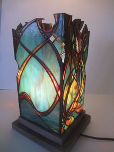 Unique stained glass lantern. van JButlerArt op Etsy