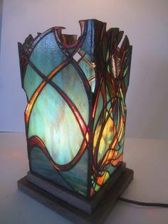 Unique stained glass lantern. van JButlerArt op Etsy