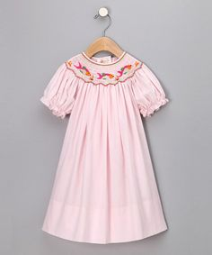 Look what I found on #zulily! Pink Fancy Fishes Bishop Dress - Infant, Toddler & Girls #zulilyfinds