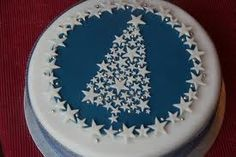 Beautifully decorated Christmas Trees cake.