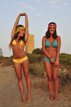 bikini amarillo y turquesa Moksa 2014