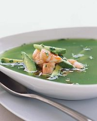 Jim Burke's cucumber soup with lime, garlic and ginger is light, refreshing and restorative; his kitchen staff jokes that it's like a mini spa treatment. For extra substance, Burke adds salt-roasted shrimp, avocado and a hit of spicy chile oil.