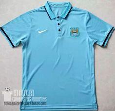 Camisetas Polo Azul Manchester City 2016  €20.9