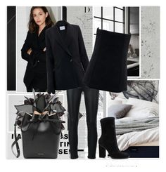 """""""Fashion in black"""" by krystalkm-7 ❤ liked on Polyvore featuring BD Fine Wallcoverings, kikki.K, Yves Saint Laurent, Alexander Wang, Gucci, M&Co and Mansur Gavriel"""