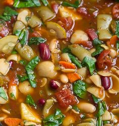 Easy slow cooker recipes - Olive Garden Minestrone Soup - Click Pic for 35 Thanksgiving Crockpot Recipes