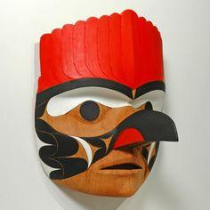 """Spirit of Woodpecker"" Mask (East) by Tim Paul, Nuu-chah-nulth (Hesquiaht) artist (W101011)"