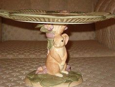 Standing Easter Bunny Cake Plate Pedestal Base