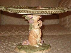 Standing Easter Bunny Cake Plate Pedestal Base