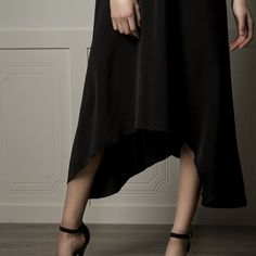 Long Black dress that is light weight and flowing but still maintains a natural fit and elegance Spring Collection, Ballet Skirt, Boutique, Elegant, Skirts, Black, Dresses, Fashion, Dapper Gentleman