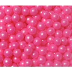 "$14 for 2.5 lb bag.  1/4"" each 1,700 per lb. bright-pink-pearl-candy-beads"