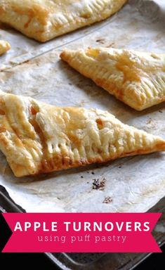 Easy to make apple turnovers using puff pastry that make the perfect fall snack. Apple Recipes With Puff Pastry, Apple Turnovers With Puff Pastry, Puff And Pie, Puff Pastry Desserts, Puff Pastries, Apple Strudel, Pillsbury Puff Pastry, Pepperidge Farm Puff Pastry, Phyllo Recipes