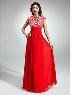 Special Occasion Dresses - $181.99 - A-Line/Princess Scoop Neck Floor-Length Chiffon Holiday Dress With Ruffle Lace  http://www.dressfirst.com/A-Line-Princess-Scoop-Neck-Floor-Length-Chiffon-Holiday-Dress-With-Ruffle-Lace-020032261-g32261