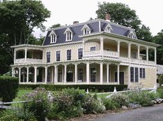 The porches! I'd buy it just for the porches. Gorgeous - it must be beautiful inside.
