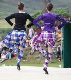 On the left - kilt with black jacket from the back #lennox #royal #tartan