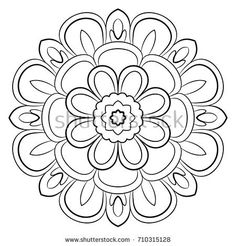 A repeating pattern in the circle. A beautiful image for scrapbook. Picture for meditation. Bum Tattoo, Leather Pattern, Repeating Patterns, Leather Tooling, Beautiful Images, Henna, Floral, Monochrome, Coloring Pages