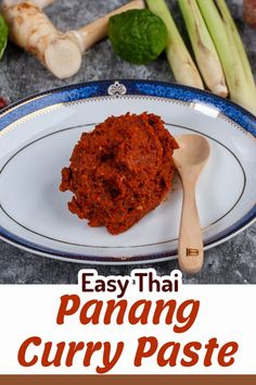 Here's a really simple recipe, guys. If you have a mortar & pestle, this Panang paste recipe will turn out perfect for you. If you don't a mini blender is also useable and will turn out pretty good. I hope you like this recipe, I love Panang curry, and the curry is much better with a homemade paste.  #tastythais #thaifood #thaipastes #currypastes #curry #paste #thaicurry #panang #panangcurry #panangpaste Thai Panang Curry, Panang Curry Paste, Red Curry Paste, Curry Recipes, Thai Recipes, Mini Blender, Tasty Thai, Paste Recipe, Vegetarian Curry