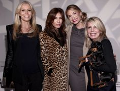 Aviva Drescher, Carole Radziwill, Heather Thompson, and designer Anne Bowen