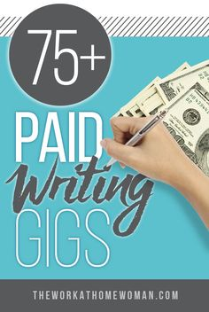Check out this HUGE list of legitimate sites that pay you to work from home as a writer. There are gigs for writing blog posts, recipes, short stories, greeting cards, and much more!