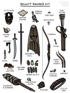 [OC] Bounty Ranger Kit : DnD Dungeons And Dragons Characters, D&d Dungeons And Dragons, Dnd Characters, Fantasy Characters, Fantasy Character Design, Character Design Inspiration, Character Art, Foto Fantasy, Fantasy Art