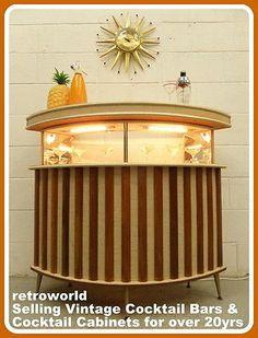 home cocktail bar furniture. 60s 70s retro vintage cocktail drinks home bar cabinet unit atomic del boy era furniture