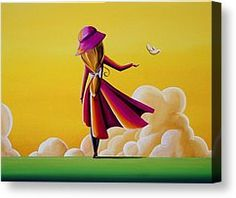 Cindy Thornton Canvas Prints - On The Wings Of A Dove Canvas Print by Cindy Thornton