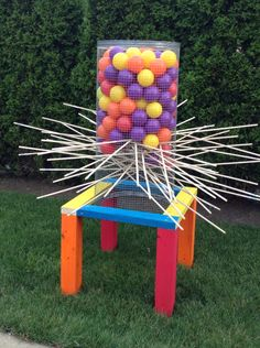Just got done making a giant outdoor kerplunk game