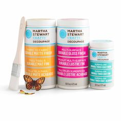 """Like"" Country's Best Cabins on Facebook, and describe your next craft project for a chance to win a set of Martha Stewart decoupage products."