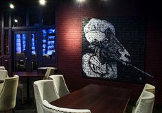 Роспись стен стрит-арт в JOYS BAR.Interior mural in  bar. #streetart #designinterior #modernart #interiormural