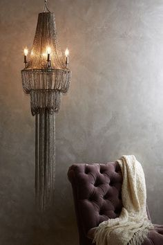 Chainmail Chandelier - anthropologie.com #anthrofave